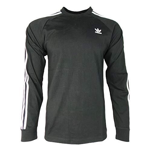 adidas Originals 3-Stripes Long Sleeve T-Shirt X Large Black (Iii Long Sleeve T-shirt)