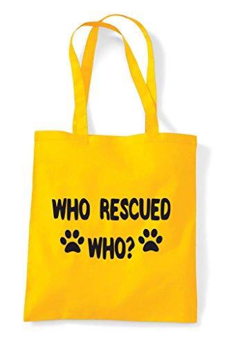 Tote Yellow Rescued Cute Shelter Bag Animal Adopt Funny A Who Shopper gCaqCT