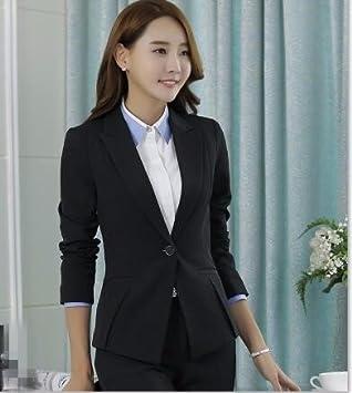 Thkm Dame Damen Blazer Anzug Winter Professionelle Damen Blazer