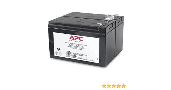 APC RBC113 - baterías para sistemas ups (Sealed Lead Acid (VRLA), 0-40 °C, -5-45 °C, 0-95%, 0-95%, Negro)