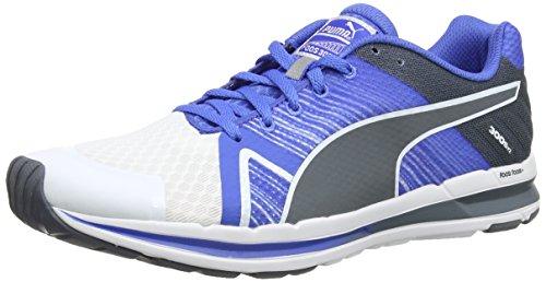 Puma Faas 300 S V2 - Zapatillas de running de material sintético para hombre blanco - Weiß (02 white-strong blue-turbulence)