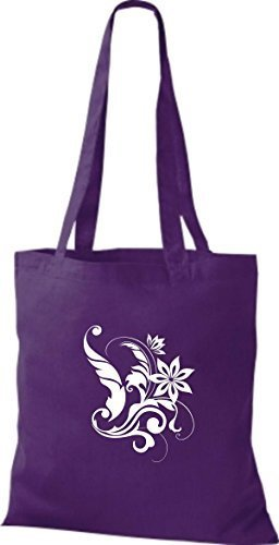 Cotone Viola Shirtinstyle Donna Stoffa Borsa Di tqZwxZYT