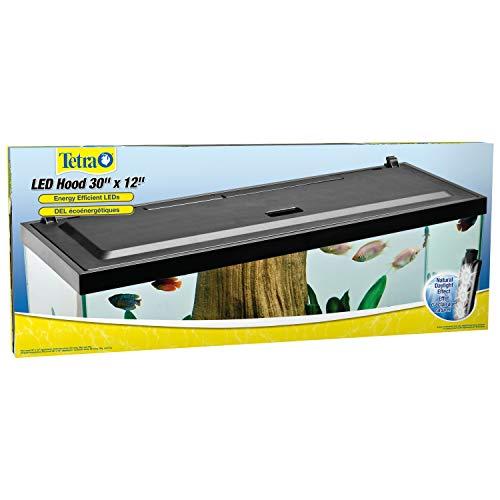 Tetra LED Aquarium Hood, Low Profile, Energy Efficient, 30 inch (30 Fish Tank Aquarium)