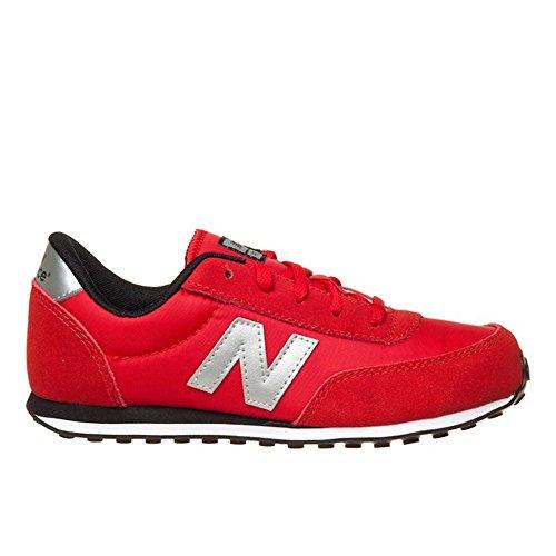 New Balance - 410 Classics Traditionnels - Color: Negro-Plateado-Rojo - Size: 37.0