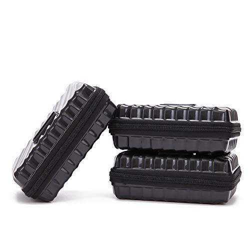 Luggage 3 Piece Set Hardshell Lightweight Suitcase Travel Storage Case Black Mini Luggage