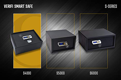 Verifi Smart.Safe. S4000 Biometric Gun Safe with FBI Certified Fingerprint Sensor, Self-Diagnostics, Tamper Alerts and AutoLock