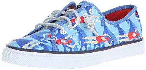Women's Shoes Orange Seacoast Canvas Blue Sperry d1UxqWF7nd