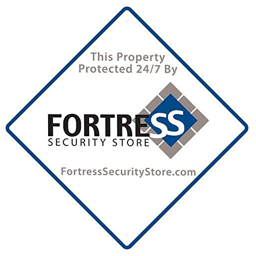 Fortress Security Yard Sign- Weather Resistant Polyethylene Plastic Durable 9x9 for Home and Business Protection
