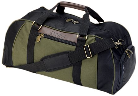 JDS Personalized Gifts Gifts Men's Deluxe Duffel Monogrammed Gym Bag (Dropship Personalized Gifts)