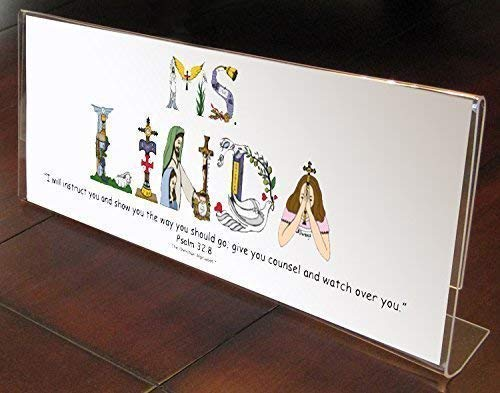 Personalized Teacher Appreciation Gift for End of Year, Christmas, Valentine's Day, Sunday School 4x11 inches Frame for Desk or Shelf Ready to Gift ()