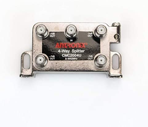 Antronix CMC2004U 4-Way Universal MoCa Splitter -3.5dB -7dB 5-1002 MHz High Performance for Coax Cable TV & Internet
