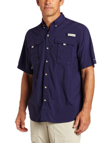 - Columbia Men's PFG Bahama II Short Sleeve Shirt, Eclipse Blue, XX-Large