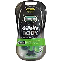 Gillette Body Men'S Disposable Razors, 3 Count