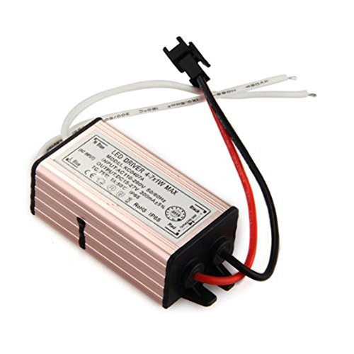 TOOGOO(R) 4-7W LED Light Driver Power Supply Converter Electronic Transformer Waterproof