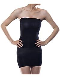 4221000158 Women s Body Shaper Seamless Tummy Control Strapless Tube Slip Dress  Shapewear