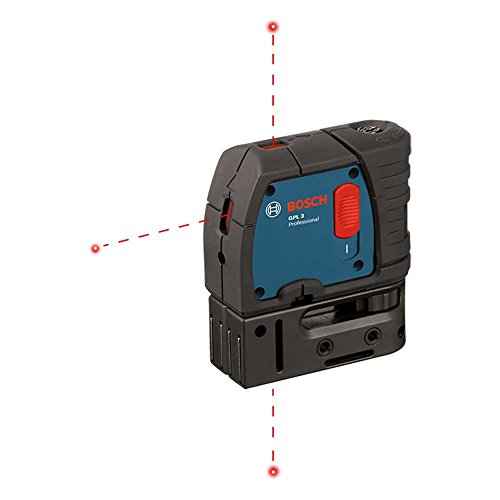 Bosch GPL3 3 Point Self Leveling Alignment Laser Level (Renewed) - Laser Plumb Bob