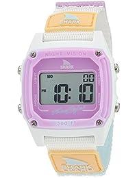 Shark Japanese-Quartz Sport Watch with Nylon Strap, White, 20 (Model: 10026835)