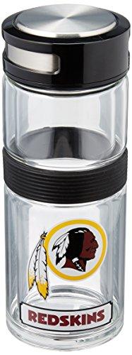 NFL Washington Redskins Double Glass Travel Thermos Flask, (Washington Redskins Stainless Steel Flask)