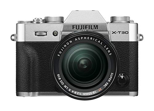 Fujifilm X-T30 Mirrorless Digital Camera, Silver with Fujinon XF18-55mm F2.8-4 R LM Optical Image Stabiliser Lens kit