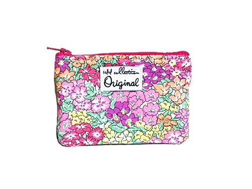 Floral Coin Purse, Pink Change Purse, Small Coin Wallet, Zipper Pouch by 144 Collection
