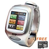 SVP G13 (with micro8GB)Silver Smart Watch Cell Phone ~ unlocked~ Quad-band