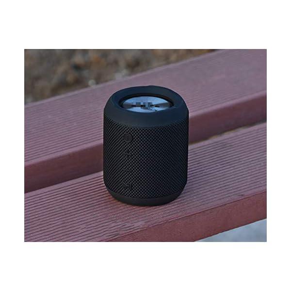 Haut-Parleur sans Fil Bluetooth, Mini Caisson de Basses Puissant et Portable, Bluetooth 4.2, pour l'extérieur, Le Sport, la Famille, Les Voyages et Les fêtes. 5