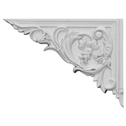 Ekena Millwork SB08X06FL-L 8 5/8-Inch W by 6 1/4-Inch H by 5/8-Inch D Flower Stair Bracket, Left