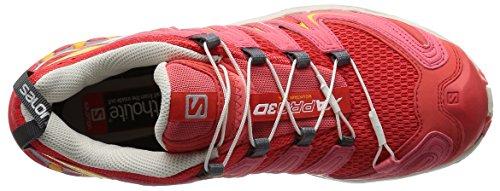 Salomon Xa Pro 3d, Zapatillas de Trail Running para Mujer Rojo (Infrared / Light Grey - / Yellow Gold)