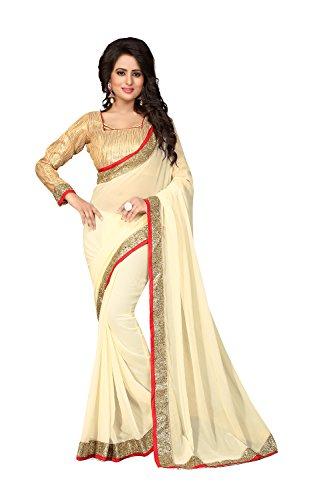 Da Facioun Indian Sarees Women Wedding Designer Party Wear Traditional Saree. Da Facioun Femmes Indiennes De Saris Concepteur De Mariage Partie Porter Sari Traditionnel. Off White 3 Blanc Cassé 3