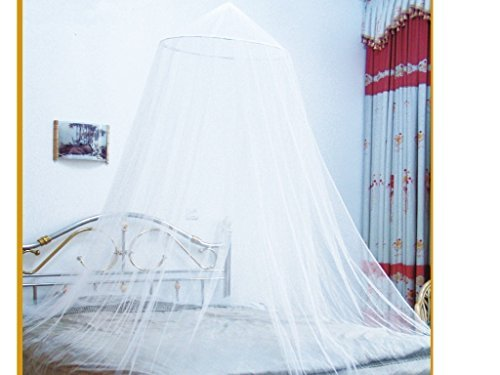 Dshop Bed Canopy Mosquito Net - Mosquito Net | Double Bed Conical Curtains | Fly Screen Netting | Insect Malaria Zika Repellent | Money-back Guarantee | Home & Travel