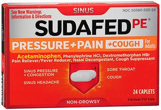 sudafed pe pressure + pain - 7