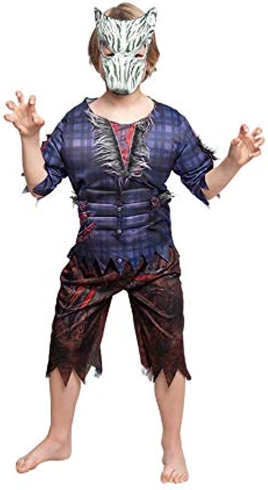 Partylandia Disfraz de Hombre Lobo Print de niño 3-4 Años: Amazon ...