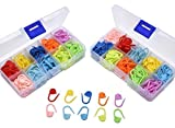 BESMEILYIN 300 Pieces Locking Stitch Markers, Knitting Stitch Counter Colorful Crochet Stitch Needle Clip with 2 Storage Box, 10 Colors