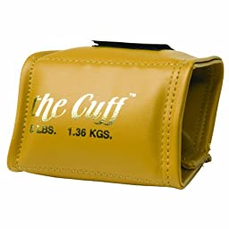 Cando 10-0207 Gold Cuff, 3 lbs Weight, For Wrist or Ankle