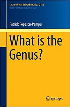 What is the Genus? (Lecture Notes in Mathematics)