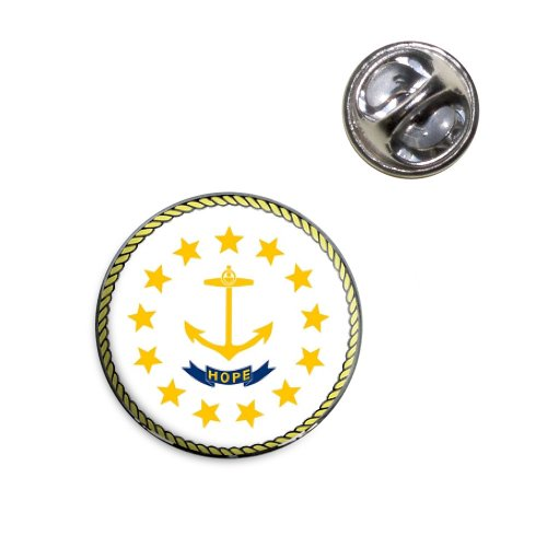 Rhode Island State Flag Lapel Hat Tie Pin Tack (Lapel Island Pin Rhode)