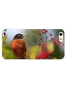 3d Full Wrap Case for iPhone 5/5s Animal Orange Bird98