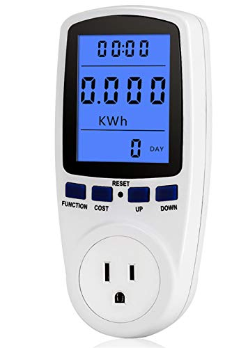 Price comparison product image Power Meter Plug Home Energy Watt Volt Amps Wattage KWH Consumption Analyzer Electricity Usage Monitor with Digital LCD Display
