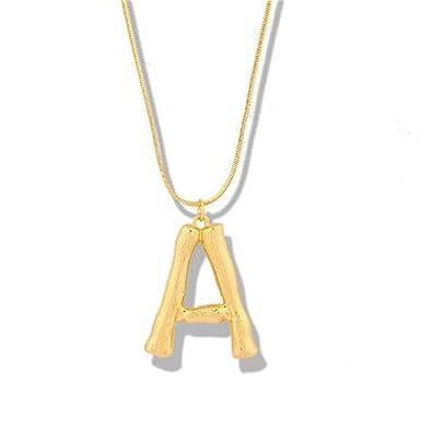 Amazon com: SJIAO Personalized Letter Pendant Necklaces