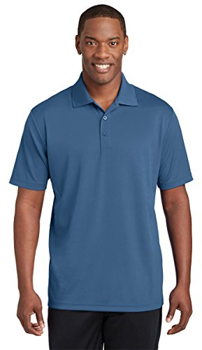 Sport-Tek Mens PosiCharge RacerMesh Polo (ST640) -Dawn Blue - Athletic Outlet