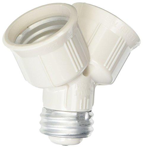 National Brand Alternative GIDDS-601214 Twin Lamp Socket Adapter Ivory