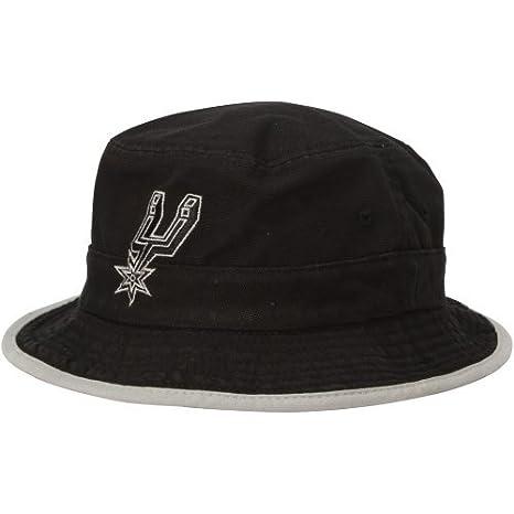 Amazon.com   Mens San Antonio Spurs adidas Black Logo Bucket Hat L ... 7de8adaace6