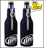 (2) Miller Lite Logo Beer Bottle Koozies For Sale