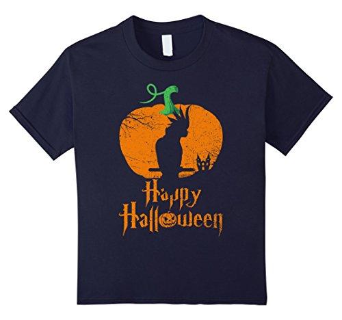 Cockatiel Halloween Costumes (Kids COCKATIEL Happy Halloween T-shirt For COCKATIEL Lovers 12 Navy)