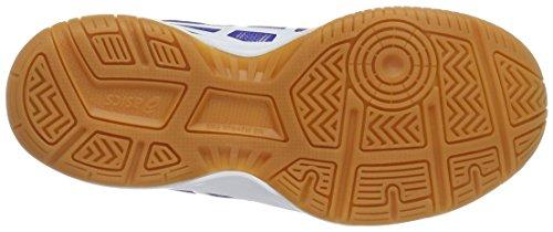 Asics Gel-Upcourt Gs, Zapatillas de Voleibol Unisex Niños Varios colores (Blue / White / Safety Yellow)