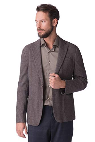 Armani. Collezioni Blazer Jacket Size 56 / XXXL Wool Blend Elbow Patches