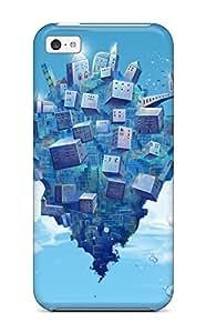 XiFu*MeiFashion RDMXIuN9952NFNRu Case Cover For iphone 4/4s(animal Bubbles Building Clouds Fish Hatsune Miku Sky Suishougensou Vocaloid )XiFu*Mei