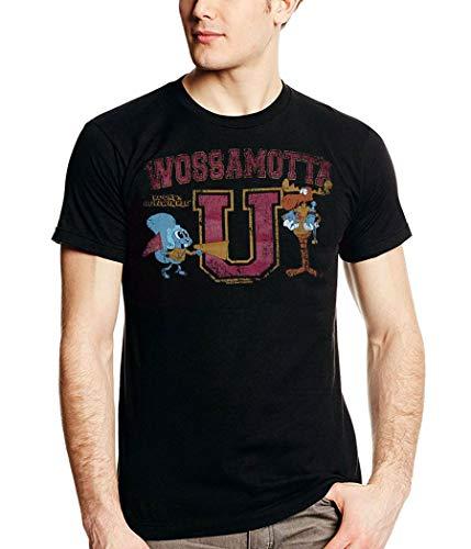 Rocky and Bullwinkle Wossamotta U T-Shirt-Large -
