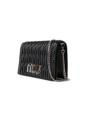 Miu Miu Black Bag (Miu Miu Women's 5Bf069n88f0002 Black Leather Clutch)