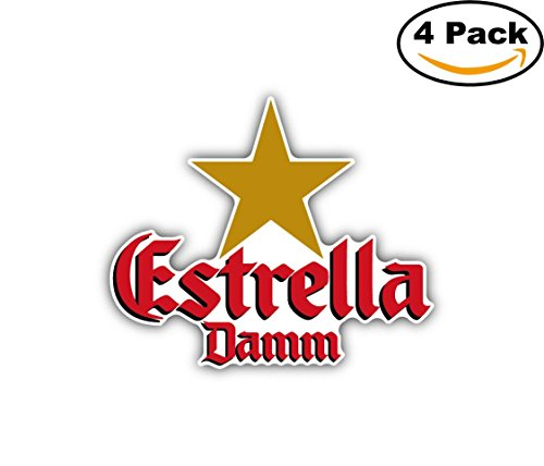 estrella-damm-beer-drink-car-bumper-sticker-decal-5x4